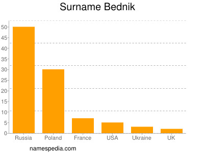 Surname Bednik