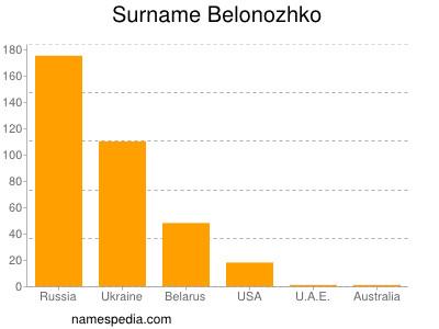 Surname Belonozhko