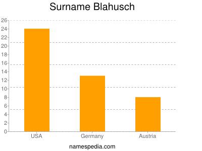 Surname Blahusch