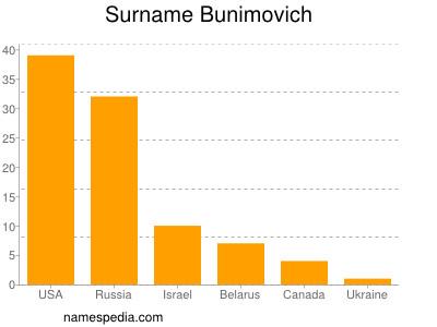 Surname Bunimovich