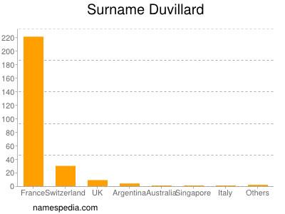 Surname Duvillard