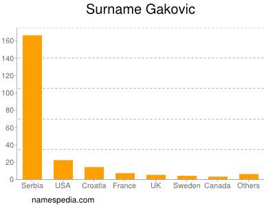 Surname Gakovic