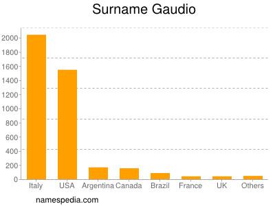 Surname Gaudio