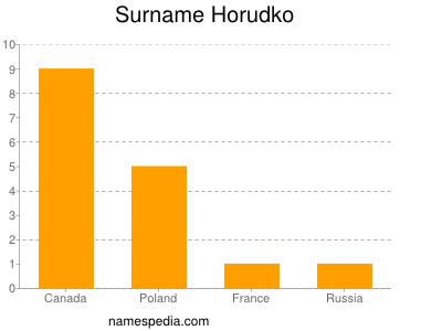Surname Horudko