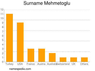 Surname Mehmetoglu