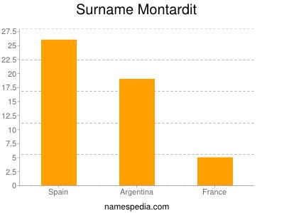 Surname Montardit
