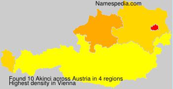 Familiennamen Akinci - Austria