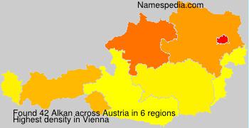 Familiennamen Alkan - Austria