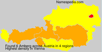 Surname Amberg in Austria