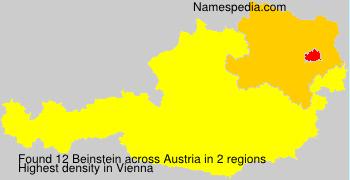 Surname Beinstein in Austria