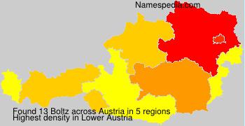 Surname Boltz in Austria