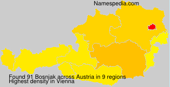Surname Bosnjak in Austria