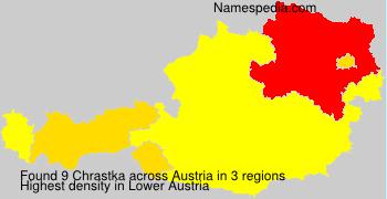 Surname Chrastka in Austria