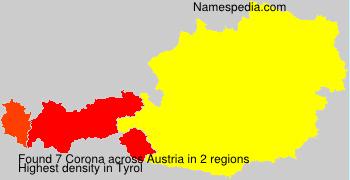 Surname Corona in Austria