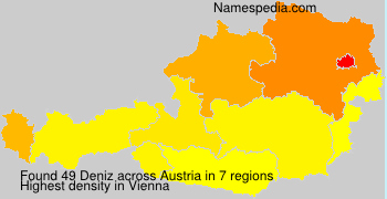 Surname Deniz in Austria