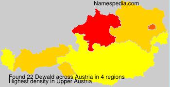 Surname Dewald in Austria