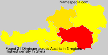 Surname Dirninger in Austria