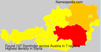 Surname Dornhofer in Austria