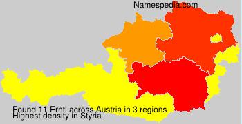 Surname Erntl in Austria