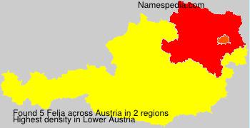 Familiennamen Felja - Austria
