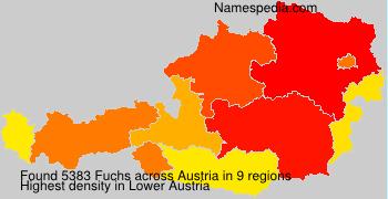 Familiennamen Fuchs - Austria