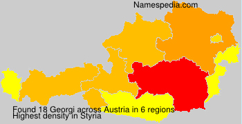 Surname Georgi in Austria