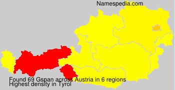 Surname Gspan in Austria
