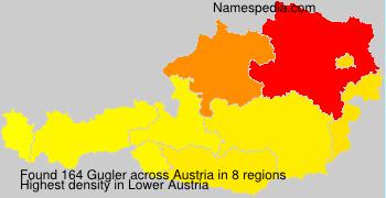 Surname Gugler in Austria