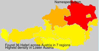 Surname Haferl in Austria