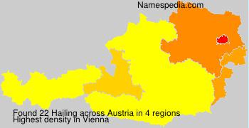 Surname Hailing in Austria