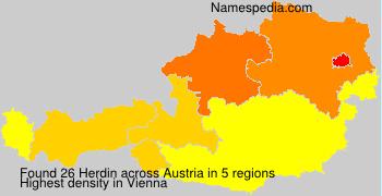 Familiennamen Herdin - Austria