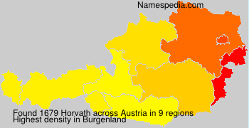 Surname Horvath in Austria