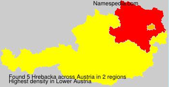 Familiennamen Hrebacka - Austria