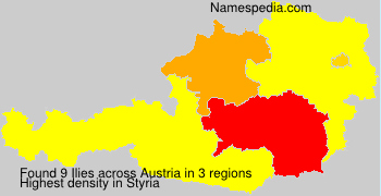 Surname Ilies in Austria