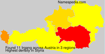 Surname Irgang in Austria