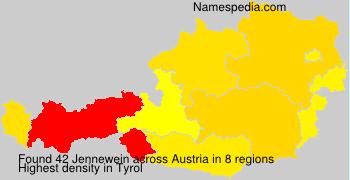 Familiennamen Jennewein - Austria