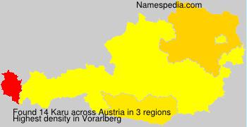 Surname Karu in Austria