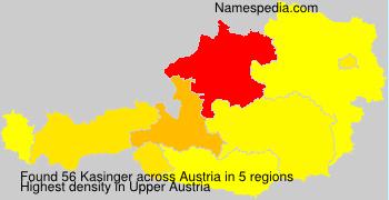 Surname Kasinger in Austria