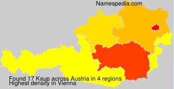 Familiennamen Kaup - Austria