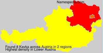 Surname Kavka in Austria