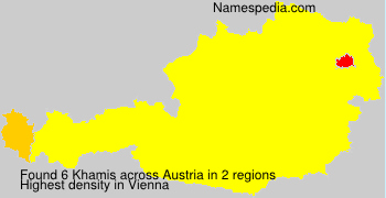 Surname Khamis in Austria