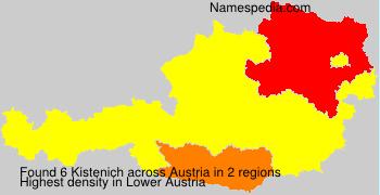 Surname Kistenich in Austria