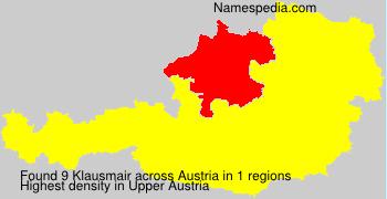 Familiennamen Klausmair - Austria