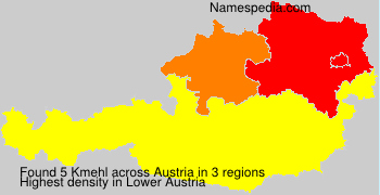 Familiennamen Kmehl - Austria