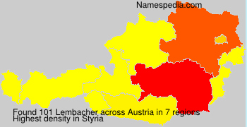 Surname Lembacher in Austria