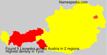 Surname Lisowska in Austria