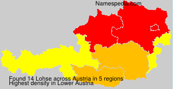 Surname Lohse in Austria
