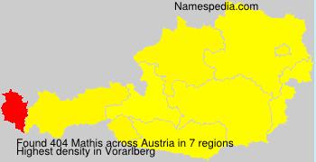 Familiennamen Mathis - Austria