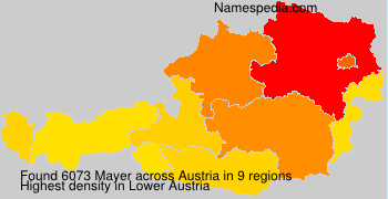 Surname Mayer in Austria