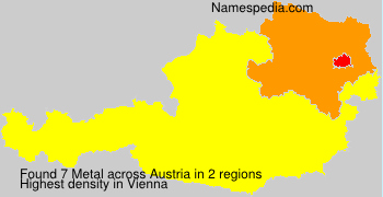 Surname Metal in Austria